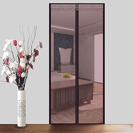 LONGHAI Mosquitera para Puerta Corredera, Cortina Mosquitera Que se Cierra como Magia Sin Huecos Instalación Fácil Protección contra Insectos para Puertas Balcones/Terraza,Brown,80x200cm(31x79in): Amazon.es: Hogar