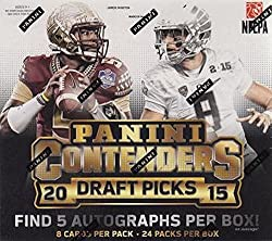 2015 Panini Contenders Draft Picks Football Hobby Box (24 Packsbox, 6 Cardspack, 5 Autos Per Box From 2015 Nfl Rookie Class. Nfl Stars In Their College Uniforms). In Stock!!