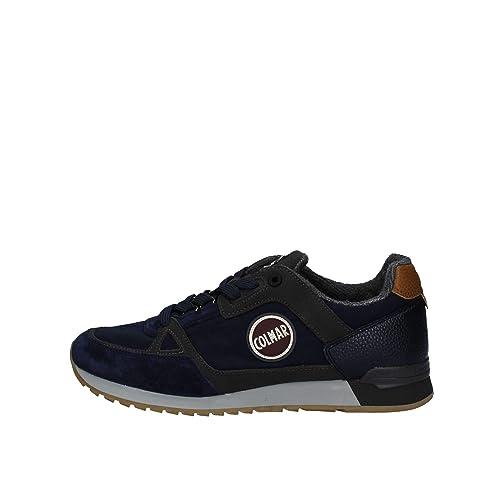 Navydunkelgrau Herren Travis Leder Supreme Schuhe Colmar dBrCxWoe