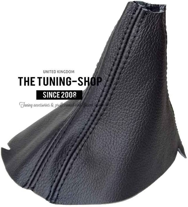 The Tuning-Shop Ltd for Volkswagen Touareg 2011-15 DSG Automatic Shift Boot Black Genuine Leather