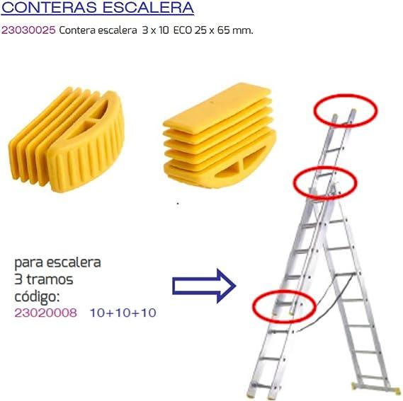 MAURER 23030025 Contera Escalera 3 Tramos 10 Eco 25x65mm: Amazon.es: Bricolaje y herramientas