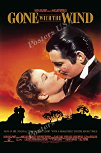 """Posters USA Gone with the Wind Movie Poster GLOSSY FINISH - MOV239 (24"""" x 36"""" (61cm x 91.5cm))"""