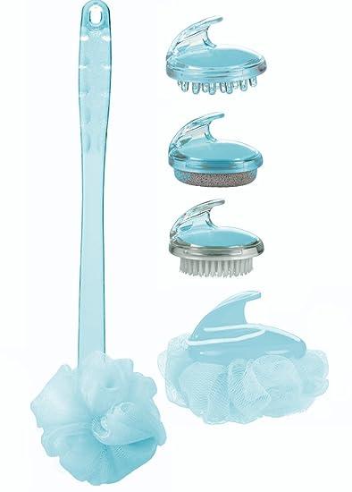 Amazon.com: 5 Pcs Bath Spa Accessories Set Includes Long Handled Net ...