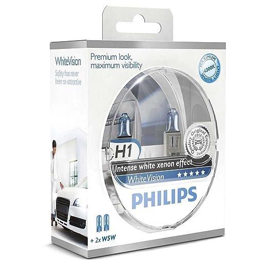 81 opinioni per Philips WhiteVision Effetto Xenon H1 Lampada Fari 12258WHVSM, Confezione Doppia