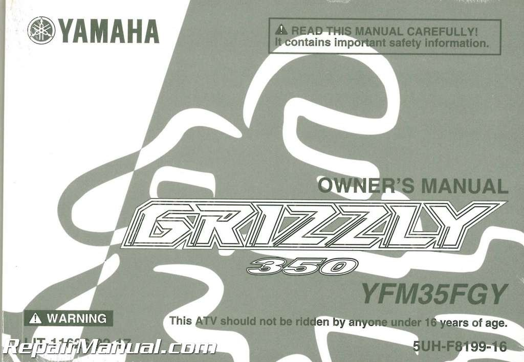 Download LIT-11626-22-17 2009 Yamaha YFM350 Grizzly 350 Auto 4X4 ATV Owners Manual ebook