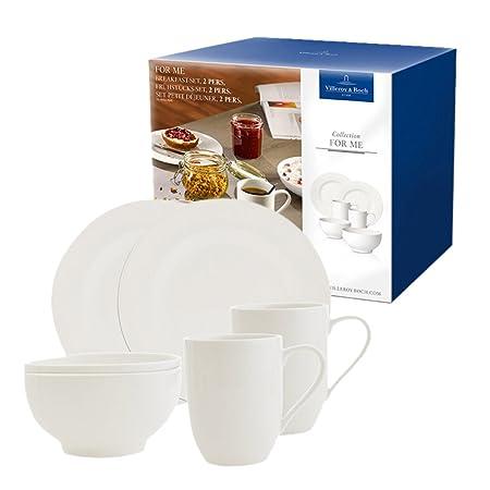 Villeroy \u0026 Boch 10-4153-7041 For Me Breakfast Elegant Porcelain Breakfast Set  sc 1 st  Amazon UK & Villeroy \u0026 Boch 10-4153-7041 For Me Breakfast Elegant Porcelain ...