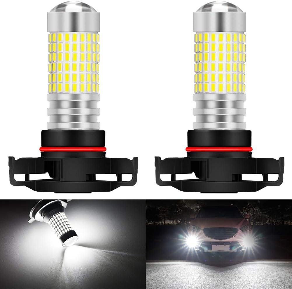 KATUR H4 9003 HB2 Bombillas de luz antiniebla LED 80W 3000LM 6500K Xen/ón Blanco con proyector para Conducir Luces de circulaci/ón Diurna DRL o Luces antiniebla Paquete de 2