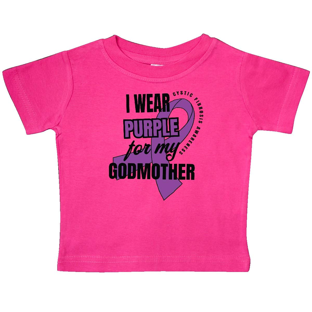 inktastic I Wear Purple for My Godmother Cystic Fibrosis Awareness Baby T-Shirt