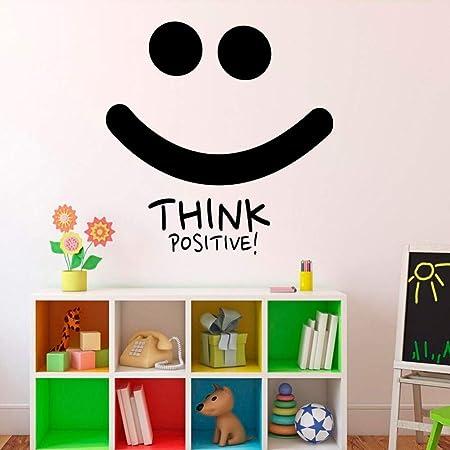zqyjhkou Think Positive Smile Tatuajes de Pared Motivación ...