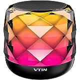 Bluetoothスピーカー VTIN ワイヤレススピーカー コンパクト 高音質 LEDポータブルスピーカー ワイヤレス スピーカー LEDライト 軽量 持ち運び便利 三つ変光モード調整可能/内蔵マイク/ LED搭載 ハンズフリー通話 TFカード対応 18か月保証付き A20 Pro