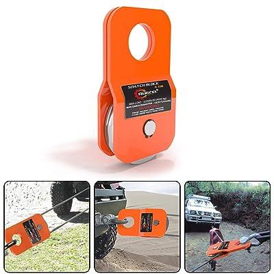 RUGCEL Winch 4.8T Heavy Duty Recovery Winch Snatch Block,10500lb Capacity (Orange): Home Improvement