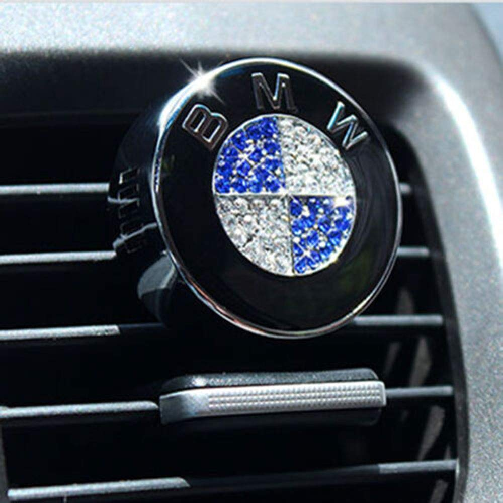 Fitracker Car Logo Smell Fresh Car Air Conditioning Air Freshener Fragrance Scent for Mercedes Benz BMW Audi Toyota Ford Honda