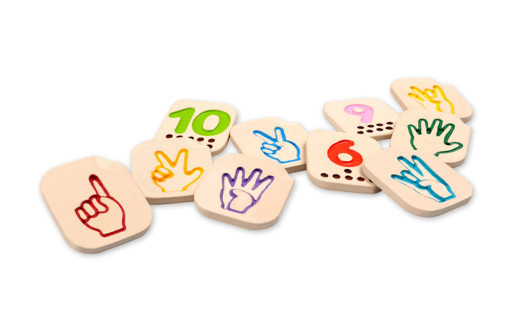 PlanToys Hand Sign Numbers 1 - 10 by PlanToys (Image #1)