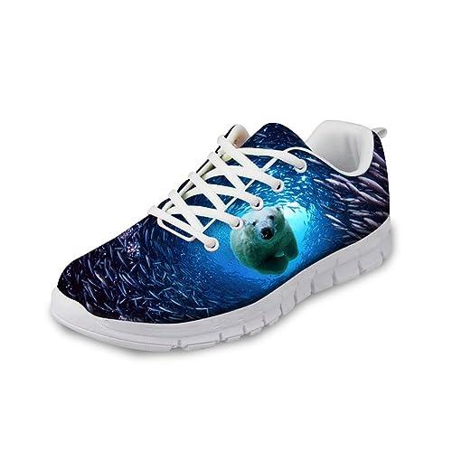ccad11a0cce1e FOR U DESIGNS Fashion Tiger Leopard Print Men's & Women's Lightweight  Running Sneaker