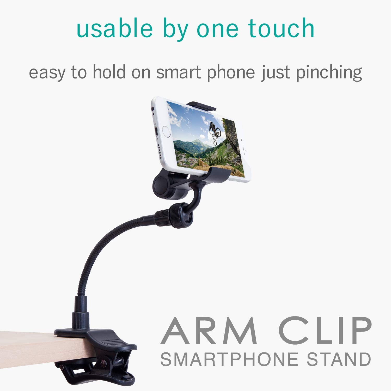 ELECOM-Japan Brand-Smartphone Stand Armtype 15cm Black P-DSCLP15BK ...