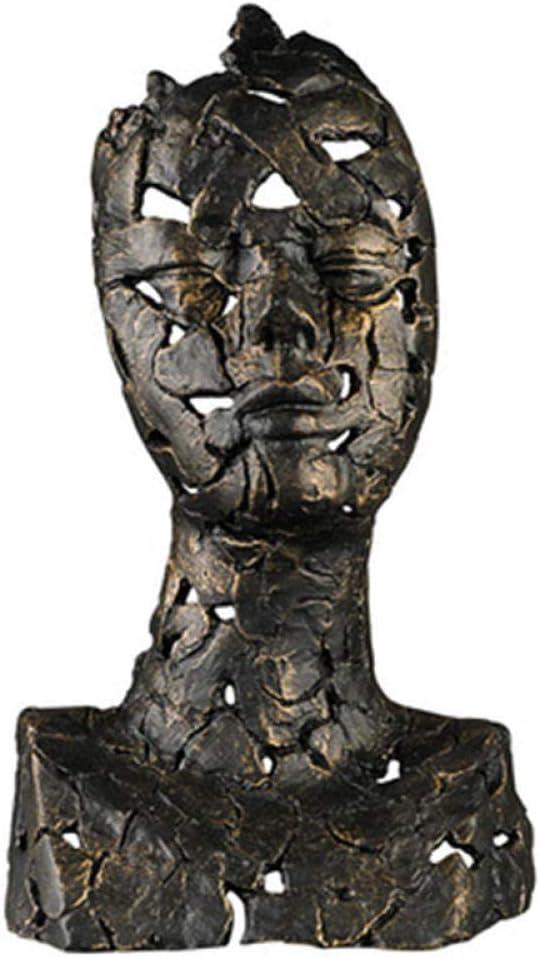 LPQA Figuritas Adornos Hierro Fundido Perforado Abstracción Retrato De Medio Cuerpo Figura Estatua Personalidad Hotel Club Decoraciones Artísticas