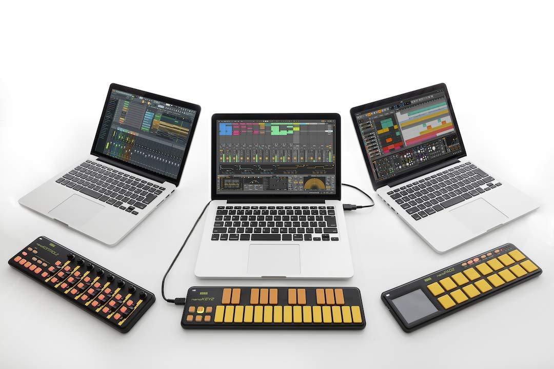 Korg nanoKEY2 Keyboard Controller - Orange/Green Limited Edition by Korg (Image #2)