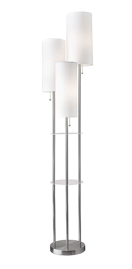 3 Light Floor Lamp Stunning Adesso 6060 Trio 60Light Floor Lamp 60 Height Smart Outlet