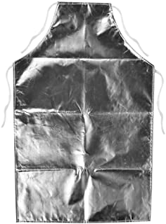 Barbecue Aprons, Heat Resistant Apron 1000 Degree Heat Resistant Aluminum Foil Apron High Temperature Working Apron Kitchen Apron for Cooking, BBQ