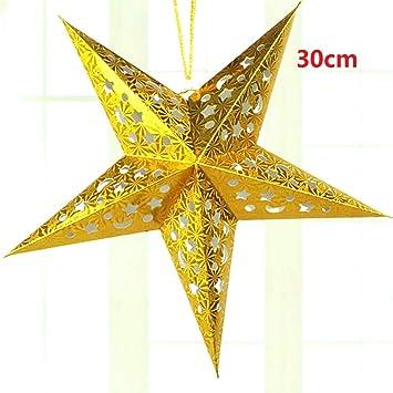 Christmas Ornaments 1pc 30 60cm Diy Paper Stars Garland