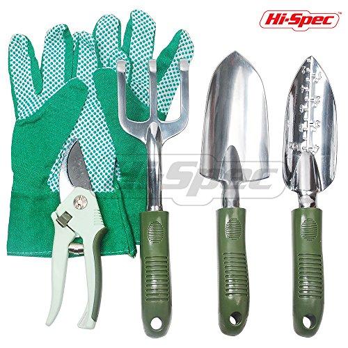 Hi-Spec 5pc Weatherproofed Garden Tool Set Of Gardening E...