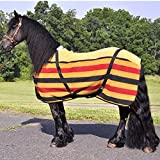 Intrepid International Dress Sheet with Traditional Stripes, Gold/Black/Red Stripe, XX-Large