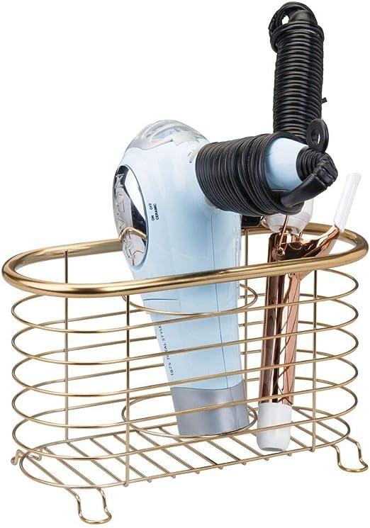 mDesign Soporte para secador de pelo o rizador – Soporte