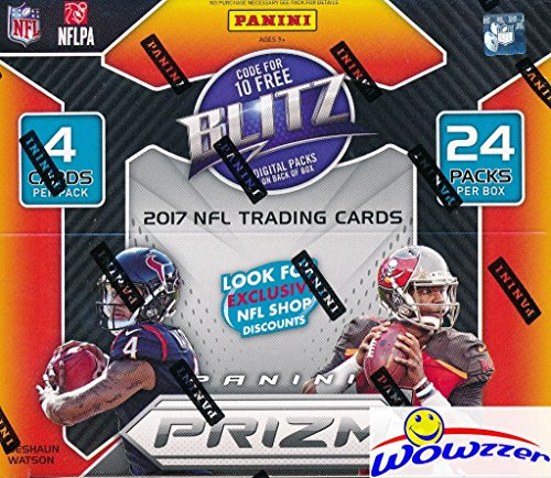 2017 Panini Prizm NFL Football HUGE Factory Sealed 24 Pack Retail Box with 12 Rookies & 12 Inserts or Parallels! Look for Rookies & Autographs of Deshaun Watson, Leornard Fournette, Kareem Hunt & More