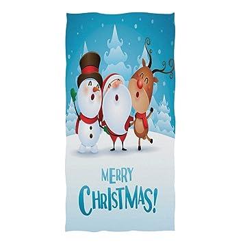 ZZKKO - Toalla de Reno, diseño navideño de Papá Noel con Reno, para bebés