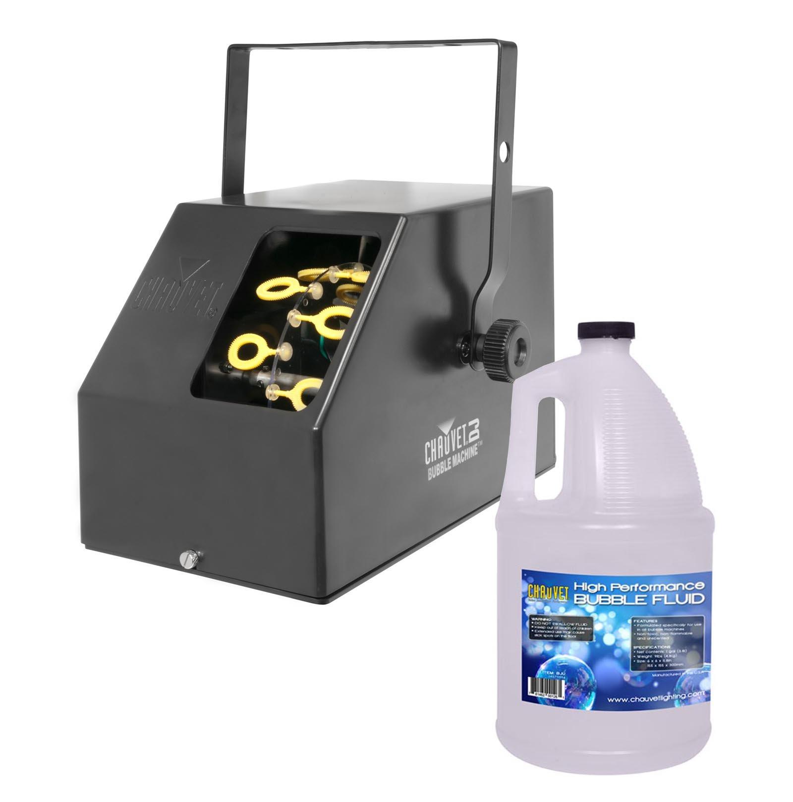 CHAUVET B-250 Portable Pro DJ Effect Bubble Machine + 1 Gallon BJU Bubble Fluid by CHAUVET DJ