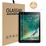Abestbox 2 Pcs Screen Protector for New iPad 9.7 (2018/2017) / iPad Air 2 / iPad Pro 9.7 / iPad Air Tempered Glass Screen Protector with Retina Display, Anti-Scratch, Smudge-Resistant, Easy Installation