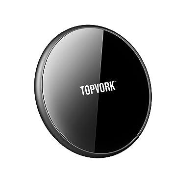 Amazon.com: Cargador inalámbrico rápido TOPVORK de 7,5 W Qi ...