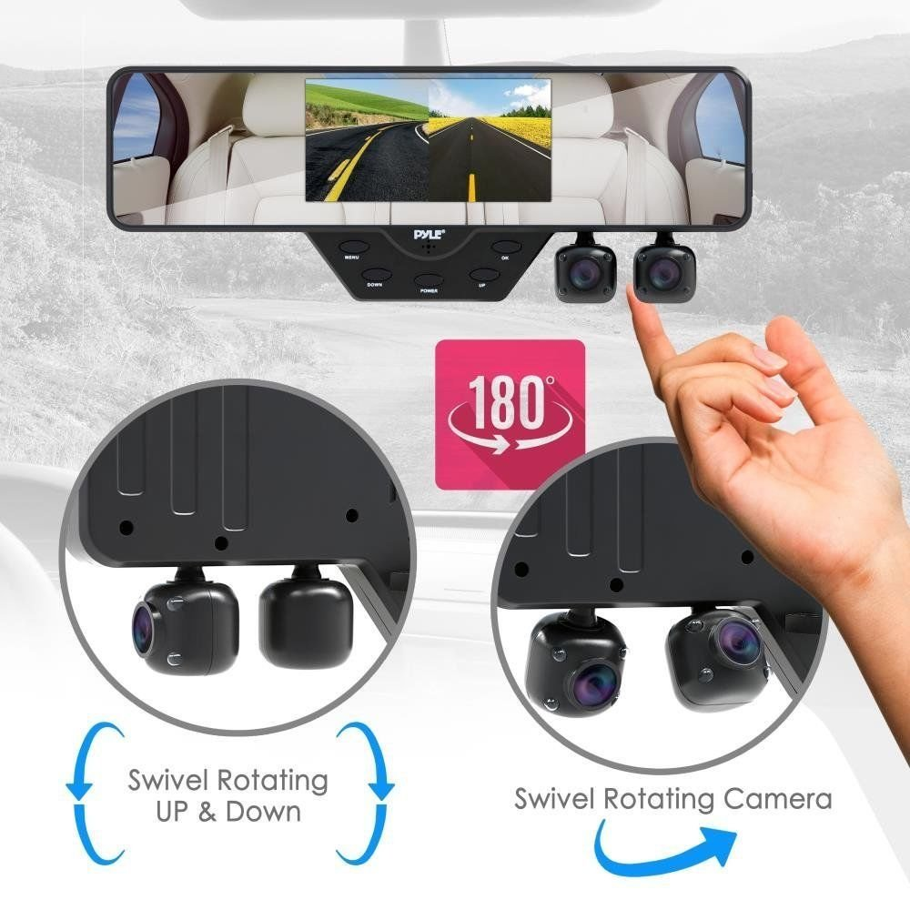 Amazon.com : Camara Para Carro Camara Trasera Espejo Retrovisor Impermeable Vision Noche DVR : Camera & Photo