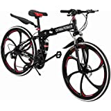 Outroad Mountain Bike (Ship from US) 21 Speed 6-spoke Bicycle 26 in Carbon Steel Bicycle Disc Brake Bicycle Full…