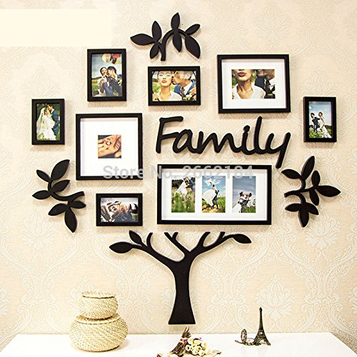 Buy New 3pcs/lot Family Tree Frame Set Black Hang Hanging Photo Wall ...