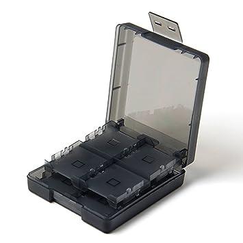Memoria 16en1 Juego Sostenedor Caja Tarjeta SD Para Nintendo 3DS XL DSI Lite Negro