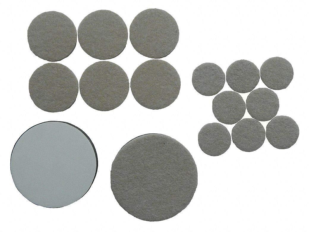 Round Self-Stick Adhesive Felt Pads, Tan, 1', 1-1/2', 2-1/2' Dia, 1EA - Pack of 5