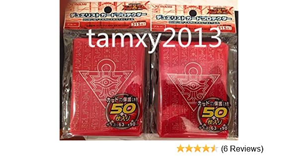 100 YU-GI-OH standard size Millenium Puzzle Red Card Sleeves 100Pcs 63X90mm