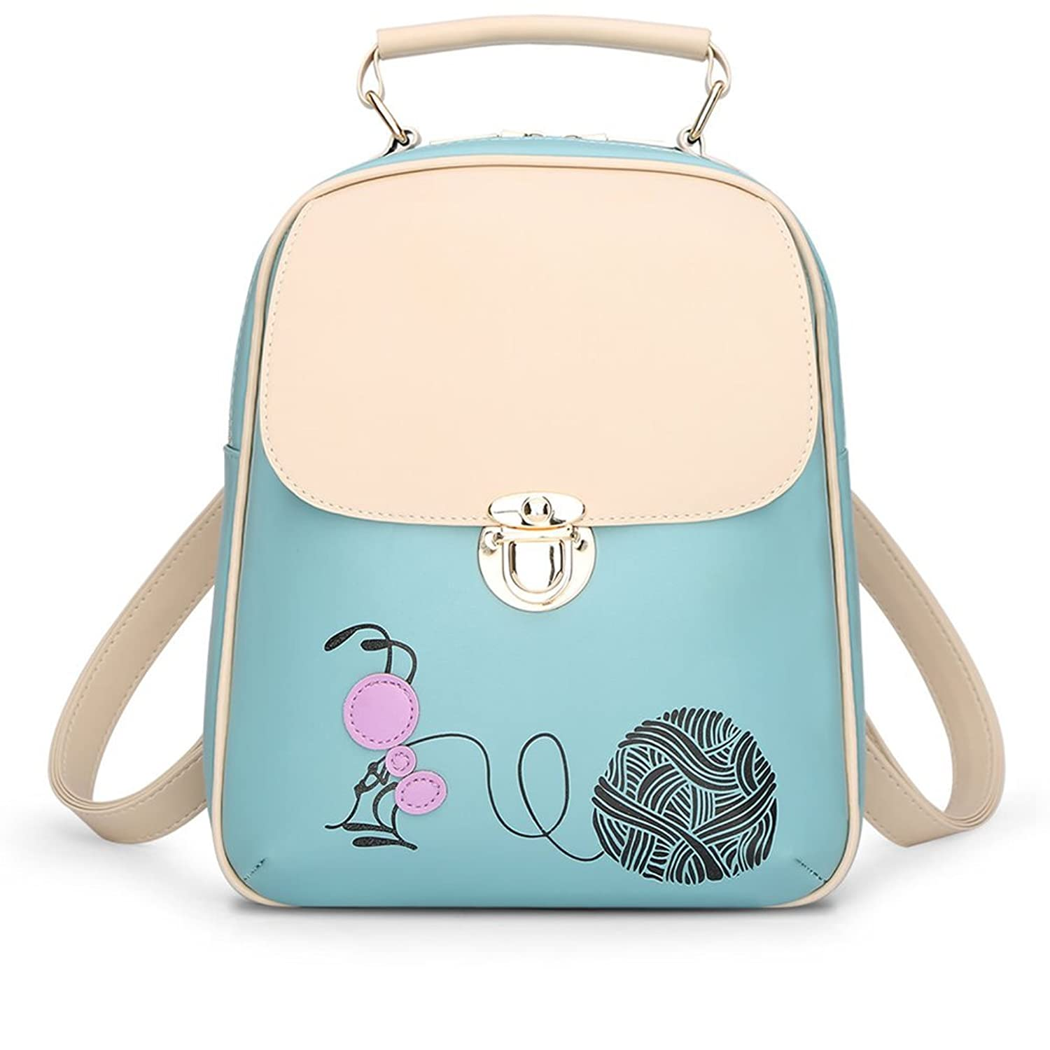 Aimmer Castle Women's Cartoon Ant High-Grade Leather Backpack