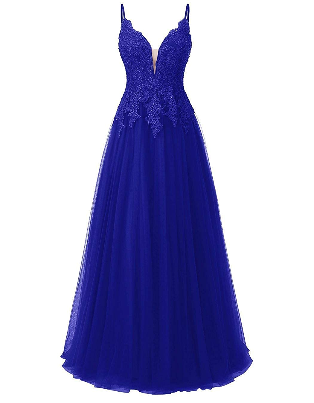 Royal bluee JAEDEN Prom Dresses Long Evening Gowns Tulle Evening Dresses for Party Lace Bridesmaid Dress Long Party Dress