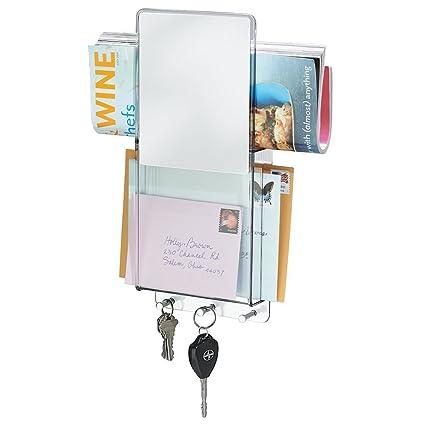 mDesign Organizador de cartas con colgador de llaves ...