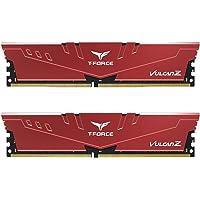 TEAMGROUP T-Force Vulcan Z DDR4 32GB Kit (2 x 16GB) 3200MHz (PC4 25600) CL16 Desktop Memory Module Ram - Red…