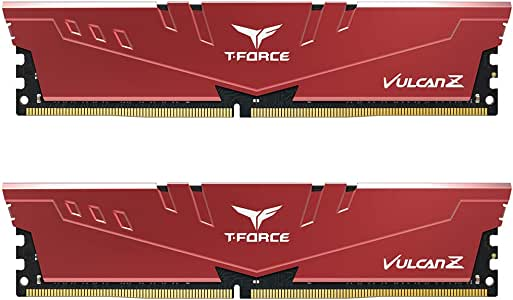 Team T-Force Vulcan Z 16GB (2X 8GB) DDR4 3200MHz Memory - Red