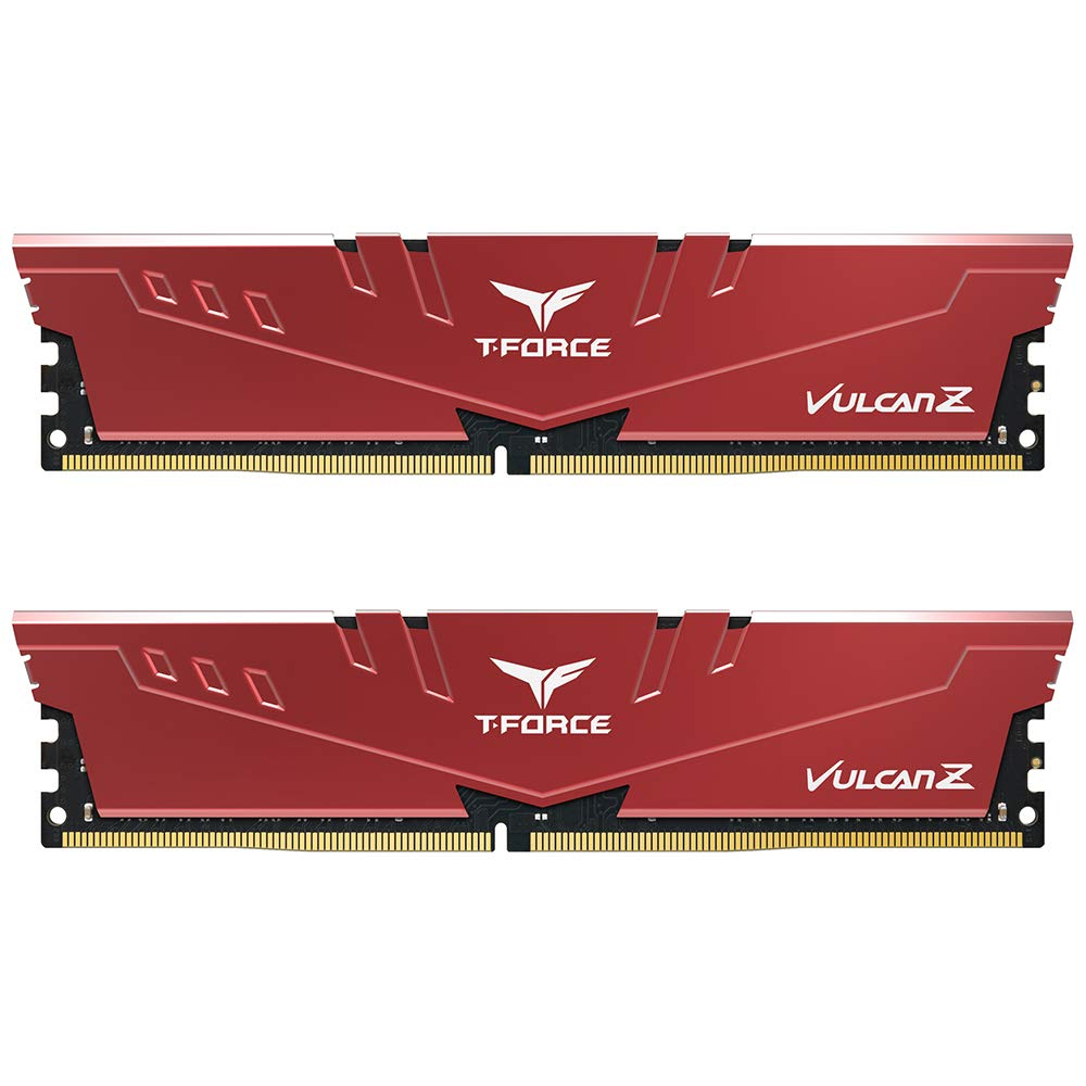 Memoria Ram 16gb Teamgroup T-force Vulcan Z Ddr4 Kit (2 X 8gb) 3000mhz (pc4 24000) Cl16 Modulo - Red - Tlzrd416g3000hc16