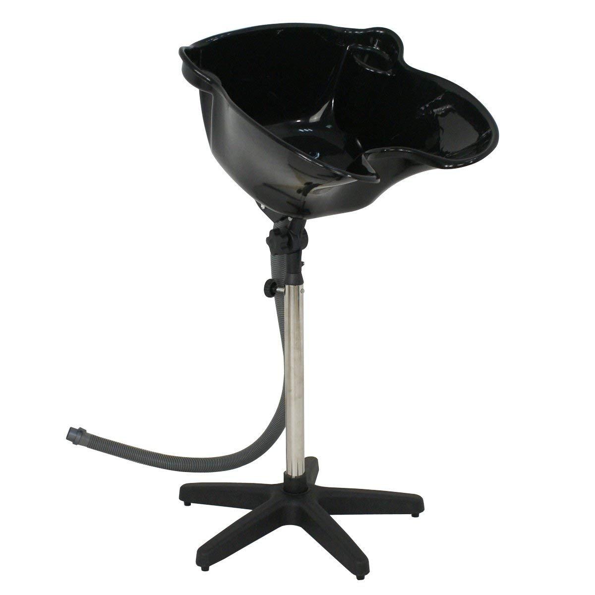 Portable Salon Deep Basin Shampoo Sink Hair Treatment Bowl with Drain Hose- Height Adjustable by Nova Microdermabrasion