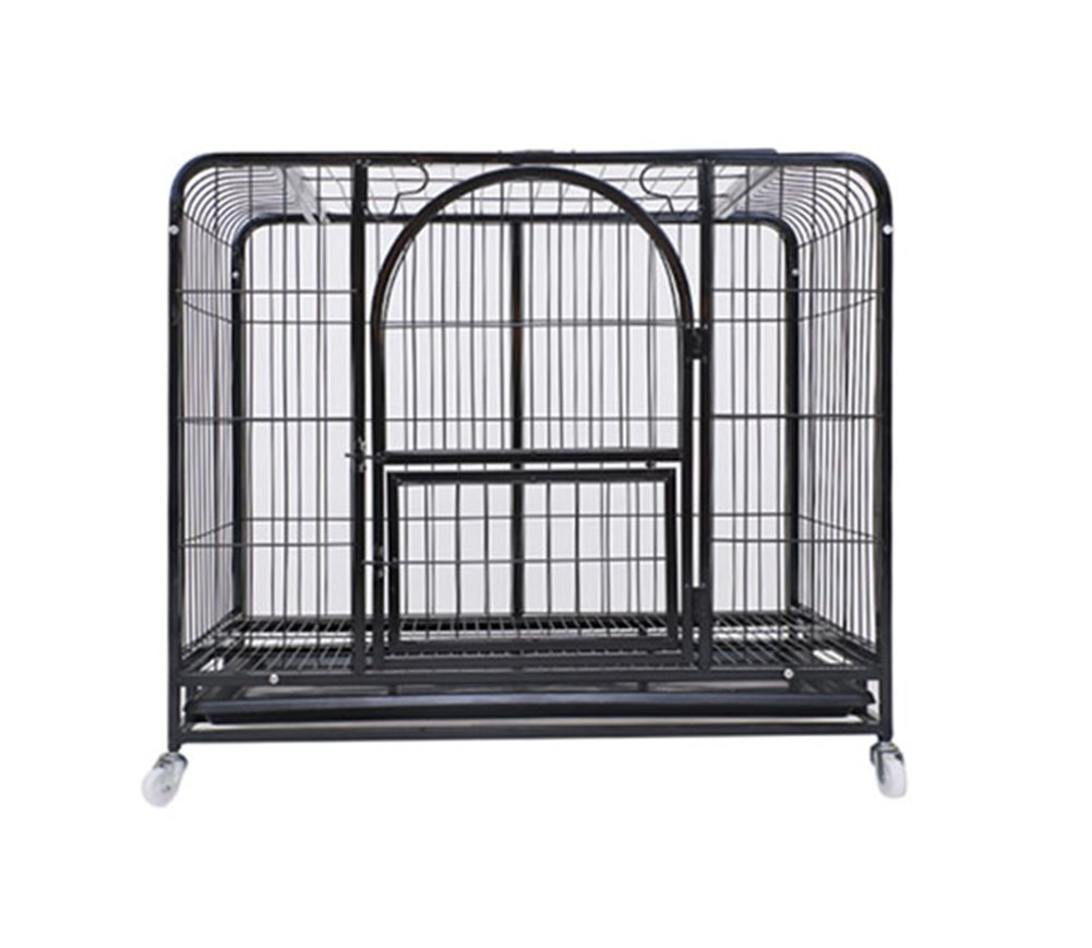 Black 624452cm Black 624452cm ZSSHJ Dog cages, Large dogs Pet cage kennel Iron cage With Toilet Small dogs Medium dog 624452cm (color   Black, Size   624452cm)