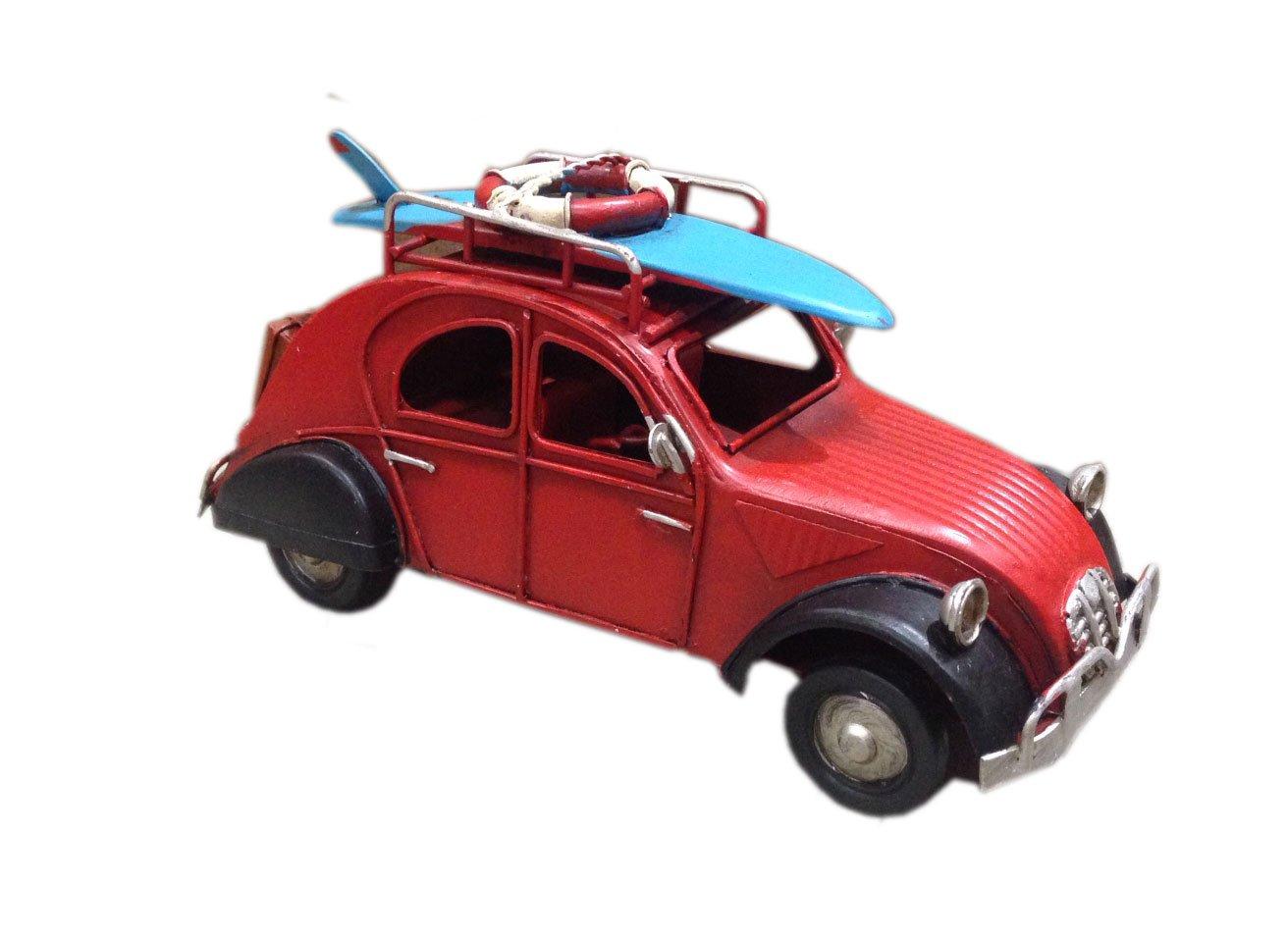 G& S Petite 2CV Miniatures en métal, L 16 cm, Modèle Rouge et Noir SG