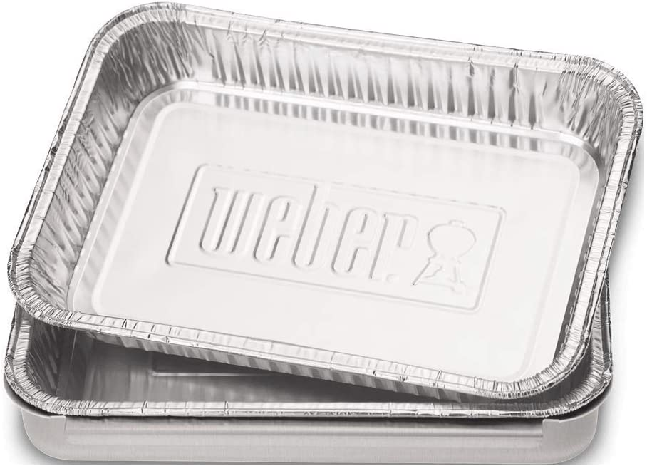 Weber 6415 - Bandejas de goteo Aluminio pequeñas (10 uds)
