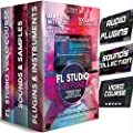 FL Studio 12 & 20 Producer Signature Edition Accessories Kit w/ Sound Packs, Music Software, VST Plugins, Video Course for Beginners - Fruity Loops Beyond the DAW 32Gb USB 2019