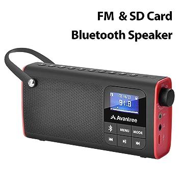 Avantree 3 en 1 Radio FM Portátil con Altavoz Bluetooth y ...